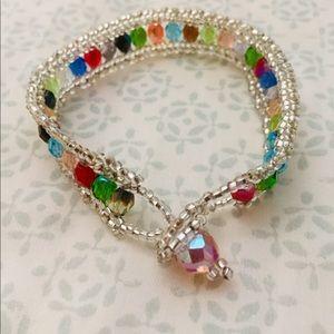 Jewelry - Multicolor Swarovski - hand beaded bracelet